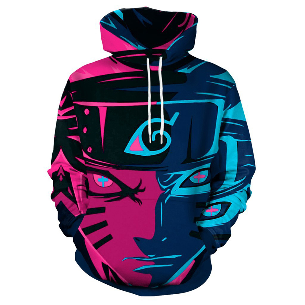 Unisex Casual Naruto Comics Related Products 3D Printing Fashion Hoody Naruto_M