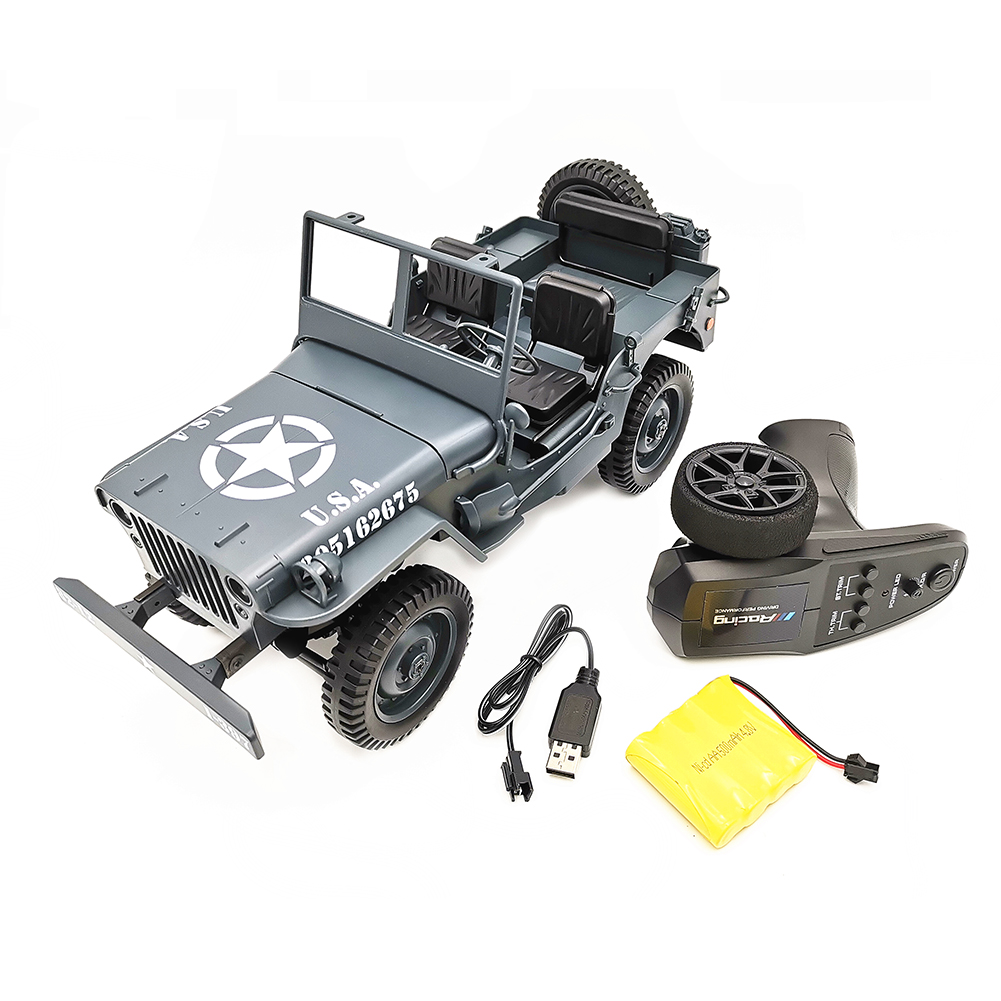 1:10 Remote Control Car C606 Four-wheel Drive Climbing Jeep RC CAR Convertible Toy Car Army blue vehicle_1:10