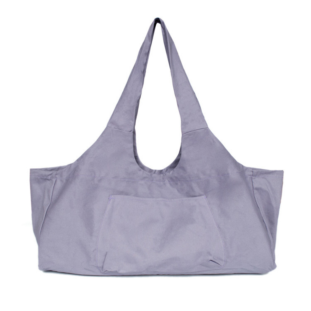 Large Capacity Canvas Yoga Bag Fitness Body One-shoulder Yoga Ma Dancing Clothes Storage Bag purple