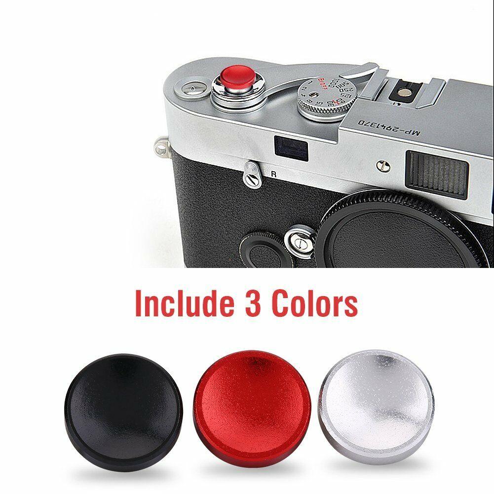 [Indonesia Direct] 3pcs/set Aluminium Alloy Camera Shutter Release Button for X100 X10 XPRO1 XE1 Black/red/silver 3PCS