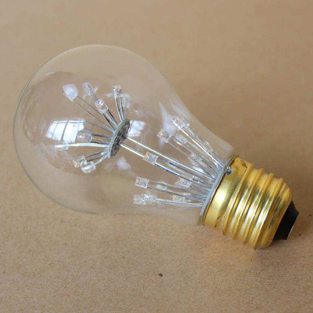 220V/5W Retro Style LED Firework Bulb E27 Decorative Lamp for Christmas Halloween Festival Parties A60