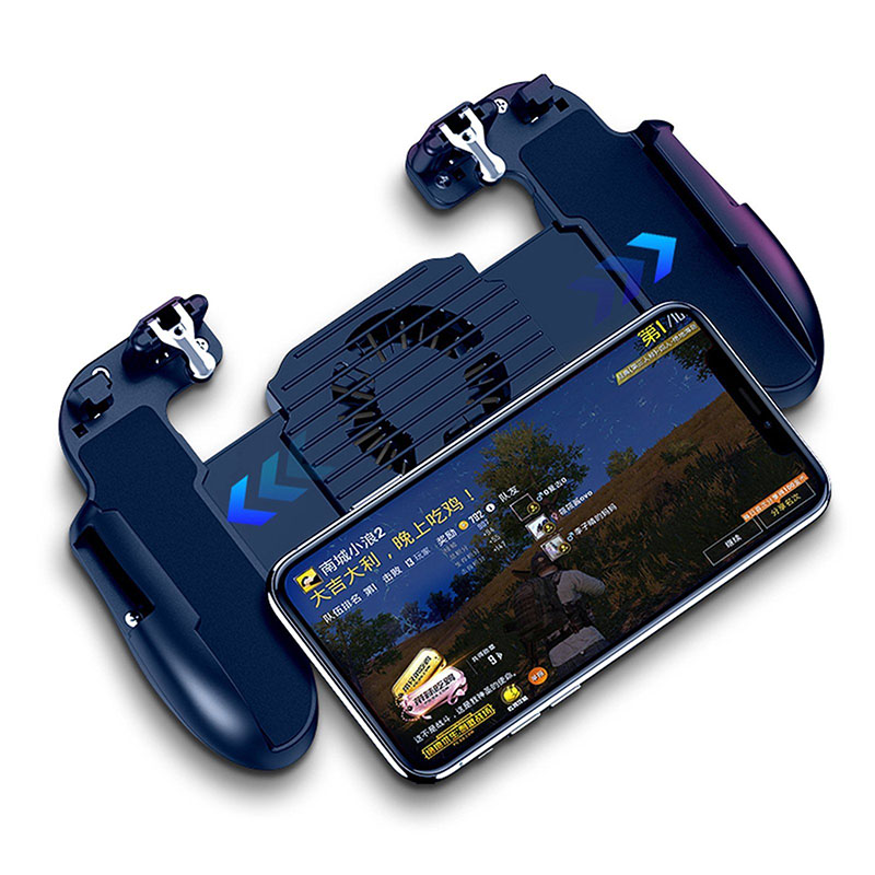 [Indonesia Direct] For PUBG Mobile iOS Android Controller Gamepad with Cooling Fan Gaming Trigger black