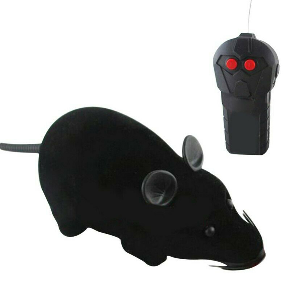 Remote Control Mouse Rat Wireless Pet Cat Dog Play Interactive Toy black_15 * 13 * 10
