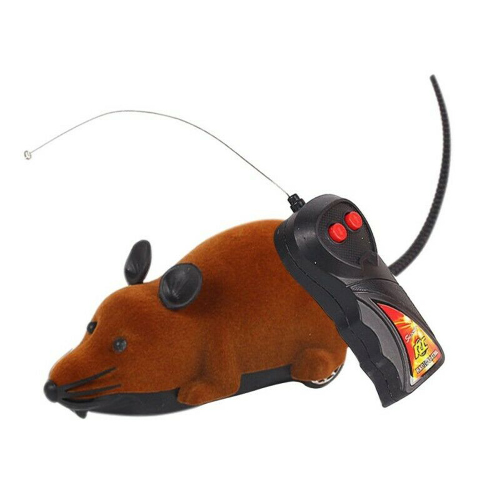 Remote Control Mouse Rat Wireless Pet Cat Dog Play Interactive Toy brown_15 * 13 * 10