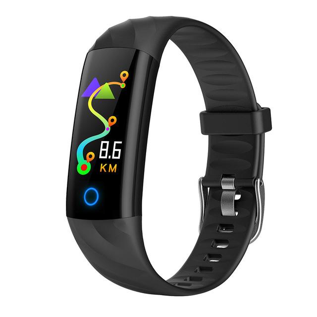 S5 Smart Bracelet Fitness Tracker Waterproof Smart Wristband Heart Rate Monitor Activity Tracker Blood Oxygen Sport Smart Band black