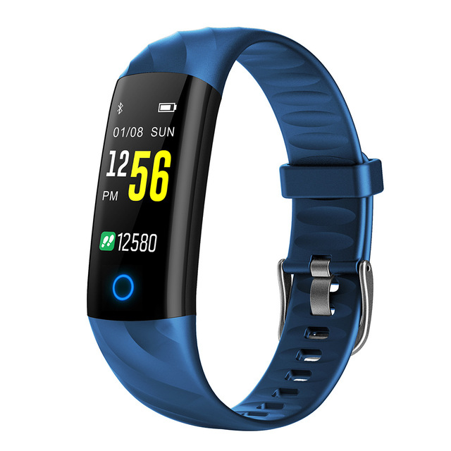 S5 Smart Bracelet Fitness Tracker Waterproof Smart Wristband Heart Rate Monitor Activity Tracker Blood Oxygen Sport Smart Band blue