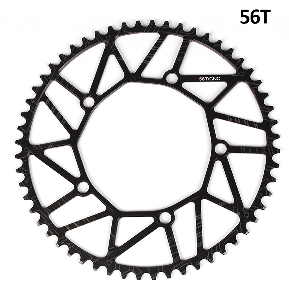 [Indonesia Direct] Litepro Bicycle Ultra-light Chain Wheel 8/9/10/11 Speed Aluminium Alloy Chainwheel Positive and negative tooth single disk 56T