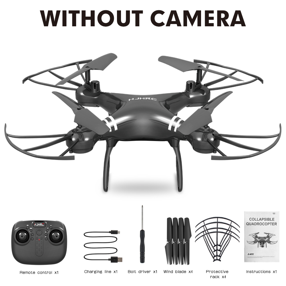 HJ101 Wifi Camera Air Pressure Fixed Height Face Recognition Drone Black without camera