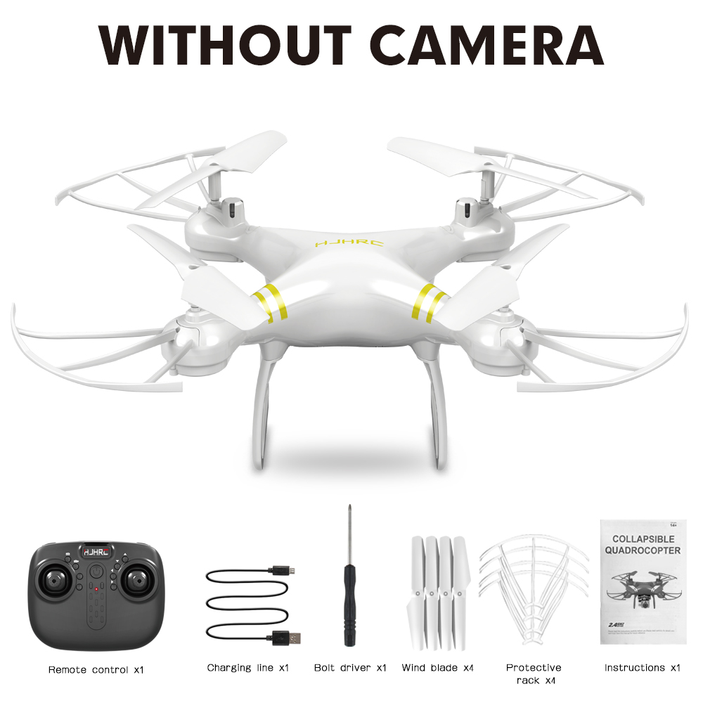HJ101 Wifi Camera Air Pressure Fixed Height Face Recognition Drone White without camera