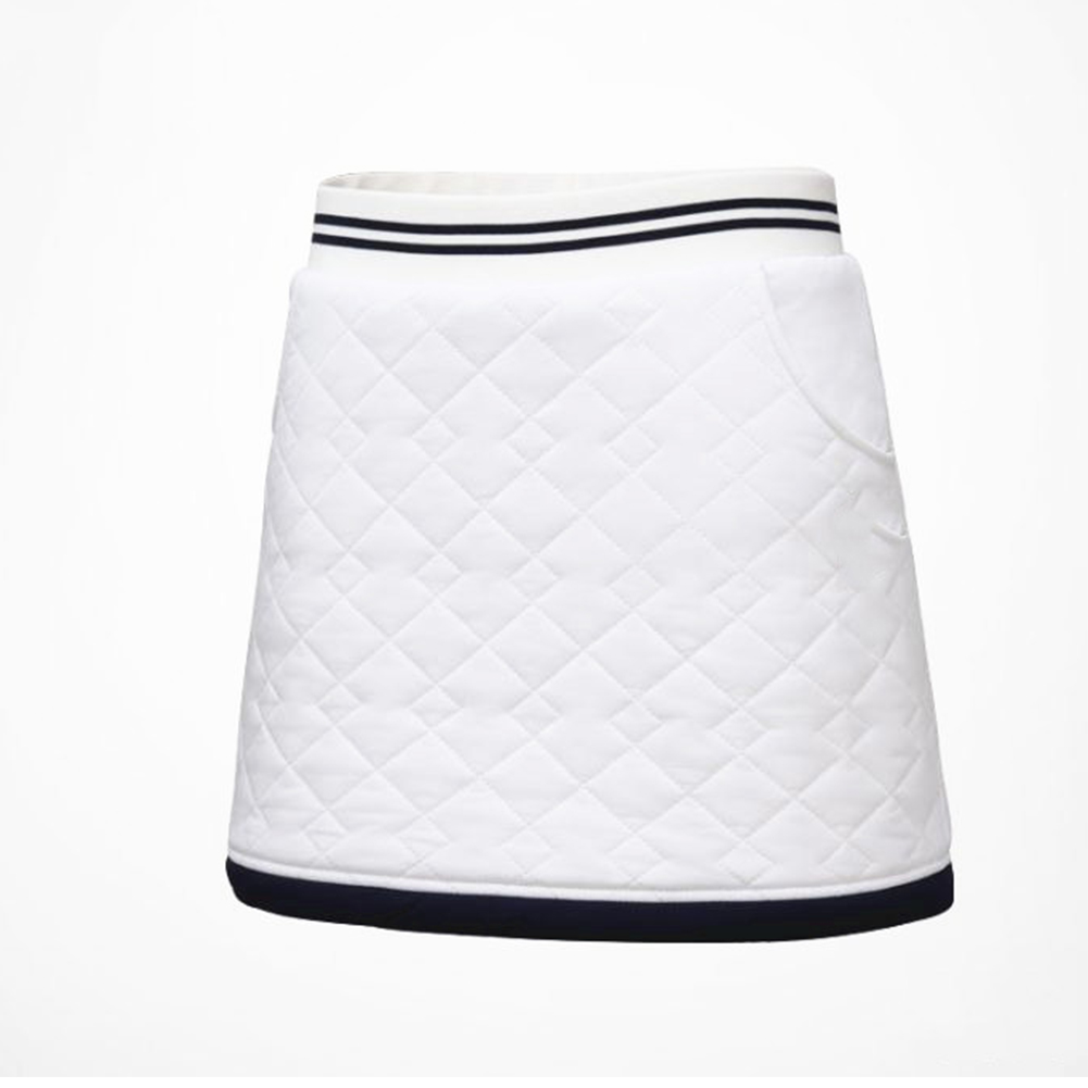 Golf Clothes for Women Vest Thicken Simier Warm Sport Vest Golf Suit Short skirt [white]_L