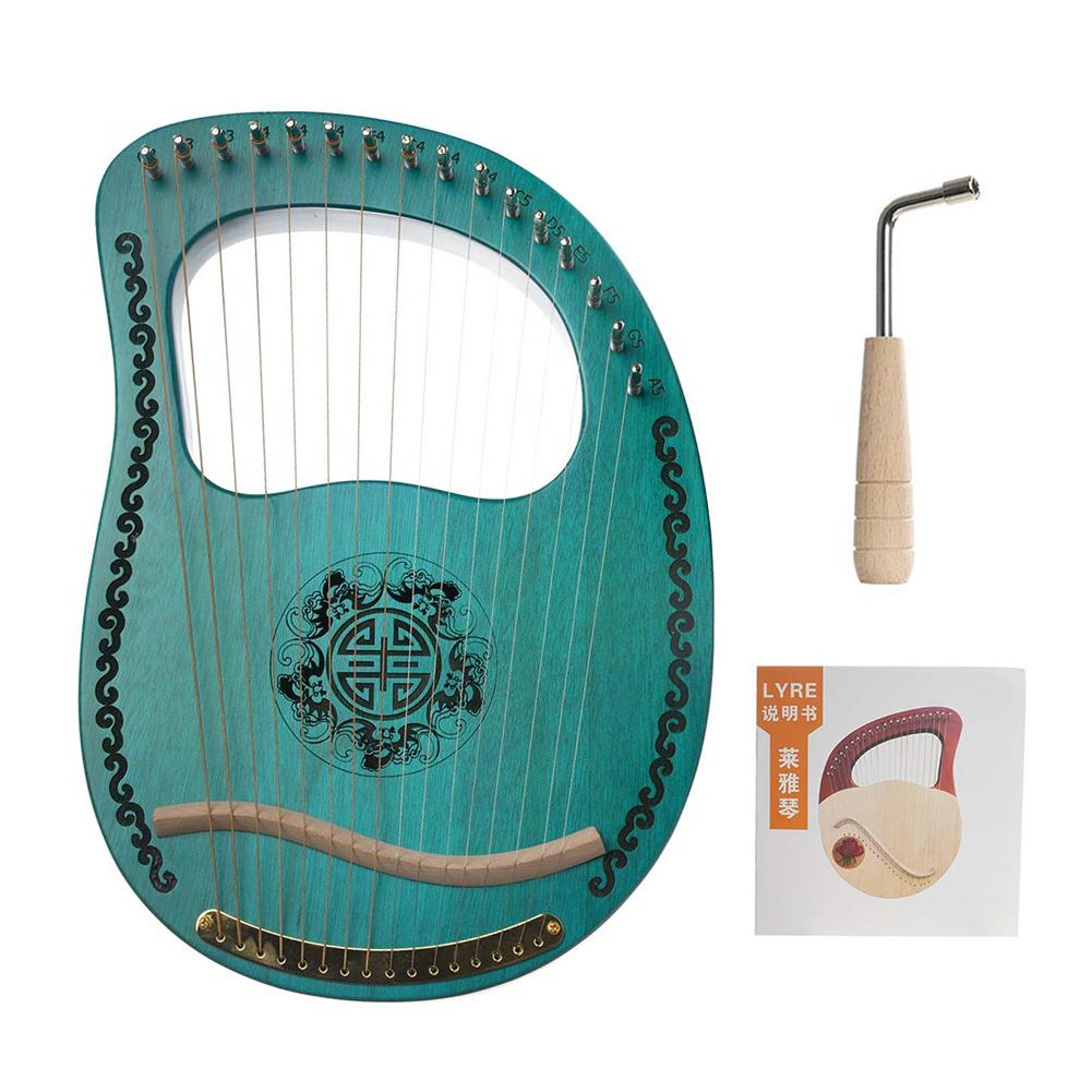 Muslady Lyre 16 String Harp Portable 16 String Instrument green