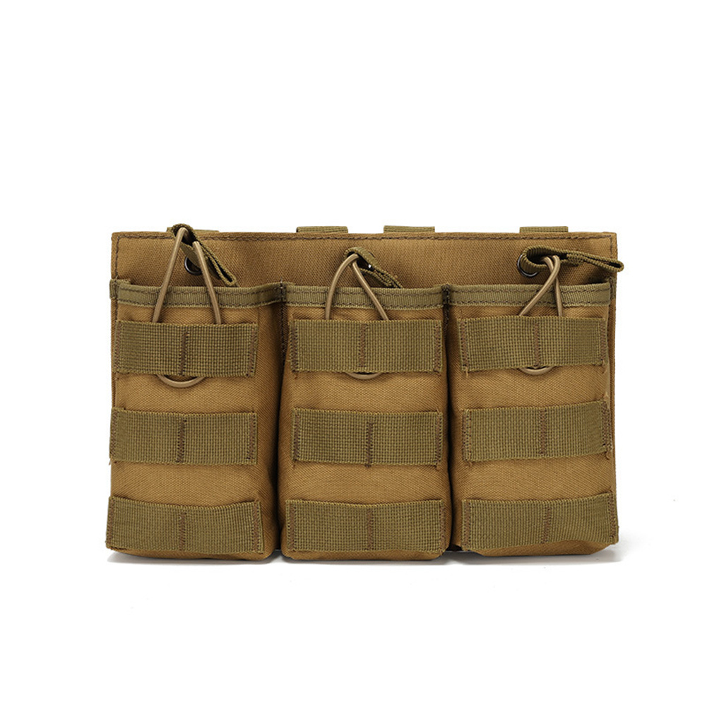 Outdoor  Bag Utility Waist  Pack Pouch Oxford Cloth Vest With Storage Pocket For Outdoor Hiking Khaki_One size