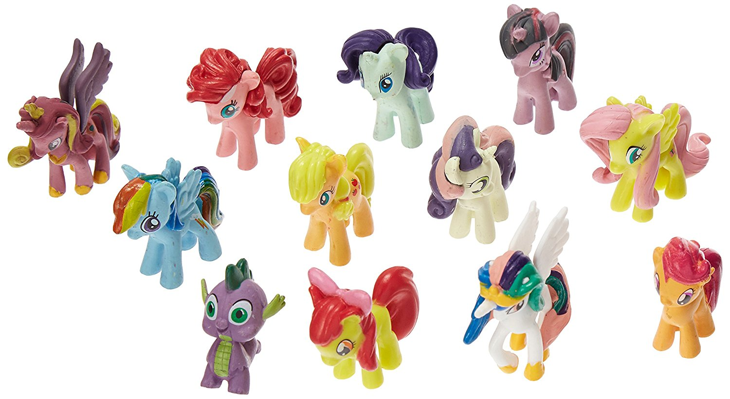 [EU Direct] Win8Fong NEW My Little Pony Cake Toppers Cupcake 12 piece Set Toys Figurines Playset