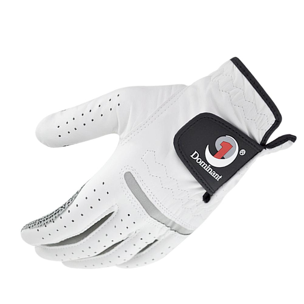 Leather Golf Gloves Men's Left Hand Soft Breathable Pure Sheepskin Golf Gloves Golf Accessories 27#