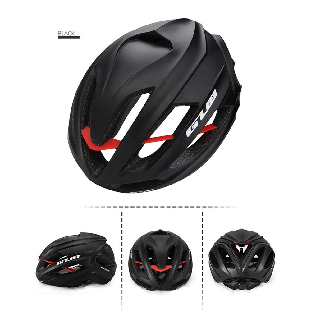 Cycling Helmet Ultralight Breathable Racing MTB Road Bike Helmet Safety Cap Man Women black_L