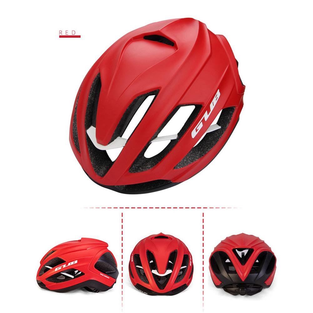 Cycling Helmet Ultralight Breathable Racing MTB Road Bike Helmet Safety Cap Man Women red_L