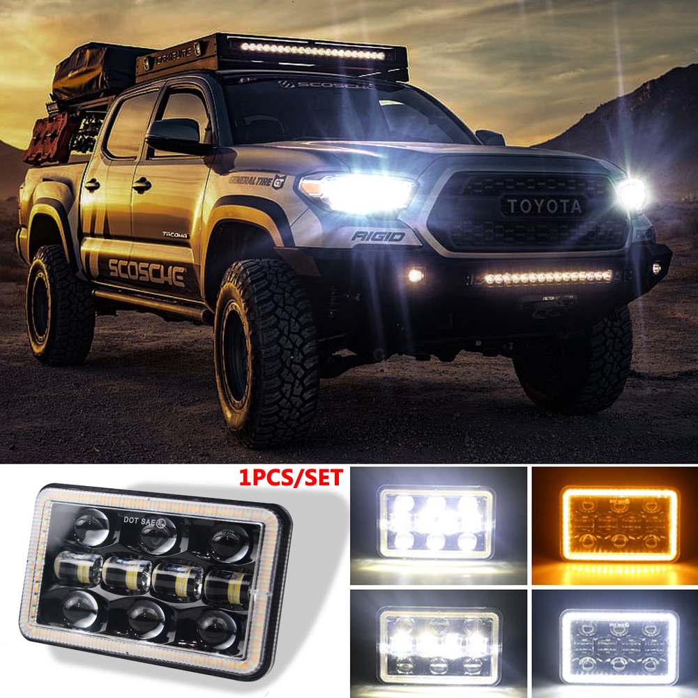 300 W 5 inch LED Headlights 4x6 Led Sealed Beam Headlamp Led Headlight for Jeep Wrangler