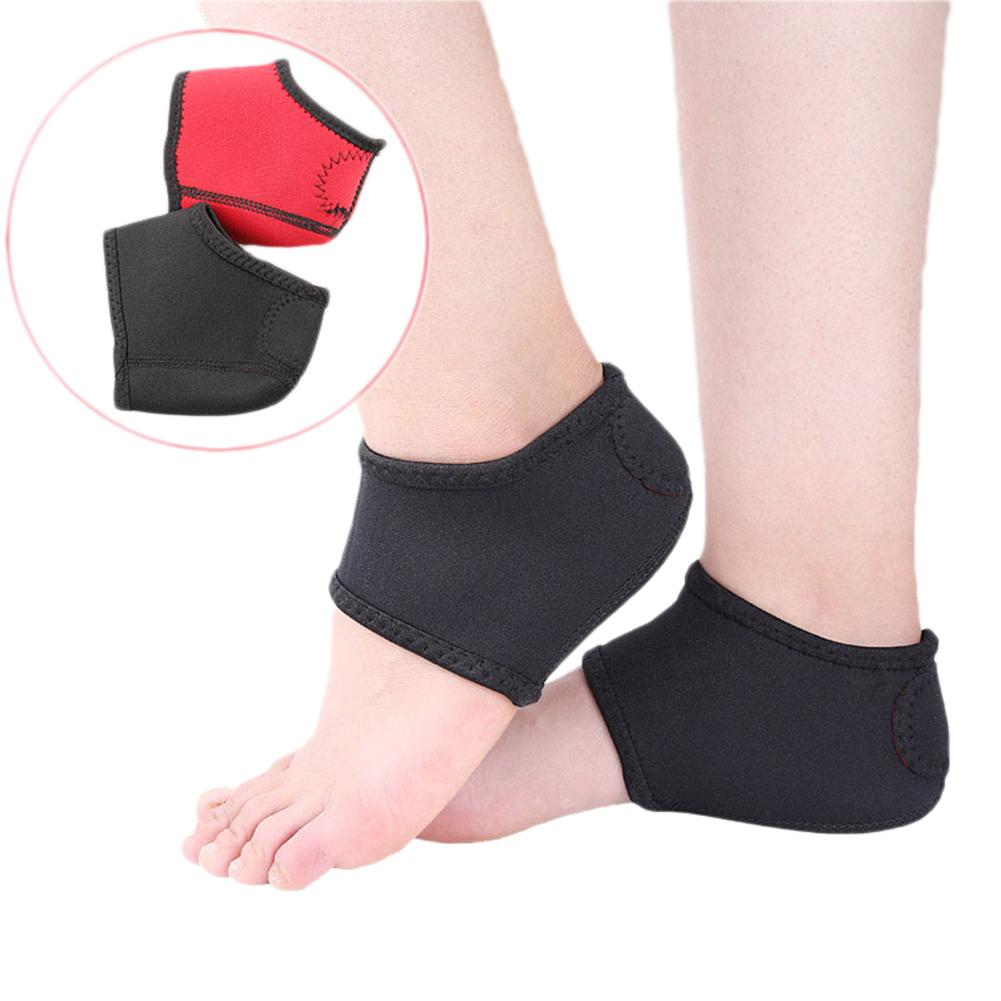 Unisex Heel Cover Heel Protective Sock Anti-cracks Prevent Grinding Feet Socks Black red_L