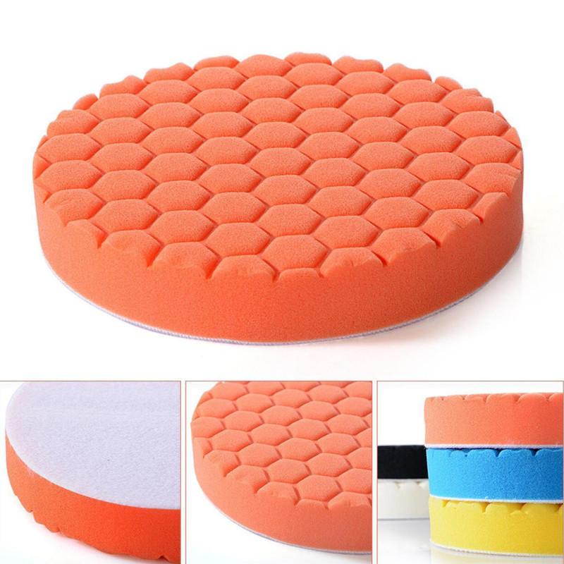 5 Pcs/set Sponge  Polishing  Pad Car Beauty Waxing Sponge Set 3/4/5/6/7 Inch Hexagonal Pattern Sponge Pad 6 inch