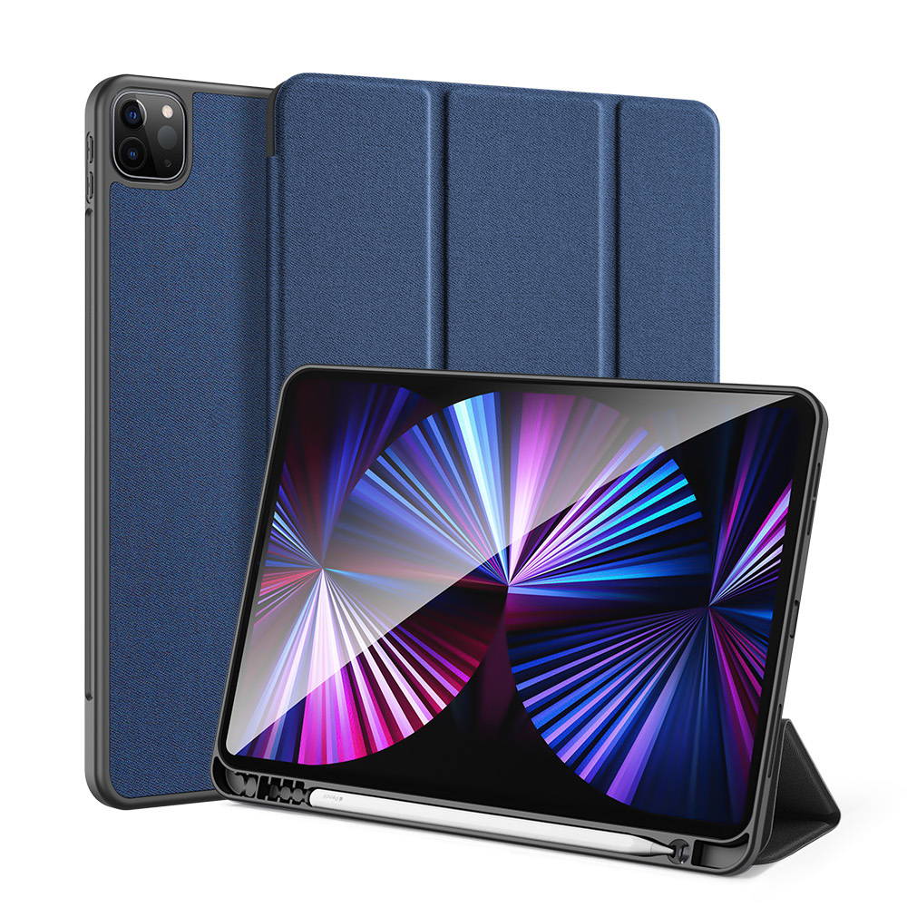 Solid Color Protective Case Tablet Case Cover With Pen Tray For Ipad Pro 11 2021 Royal blue