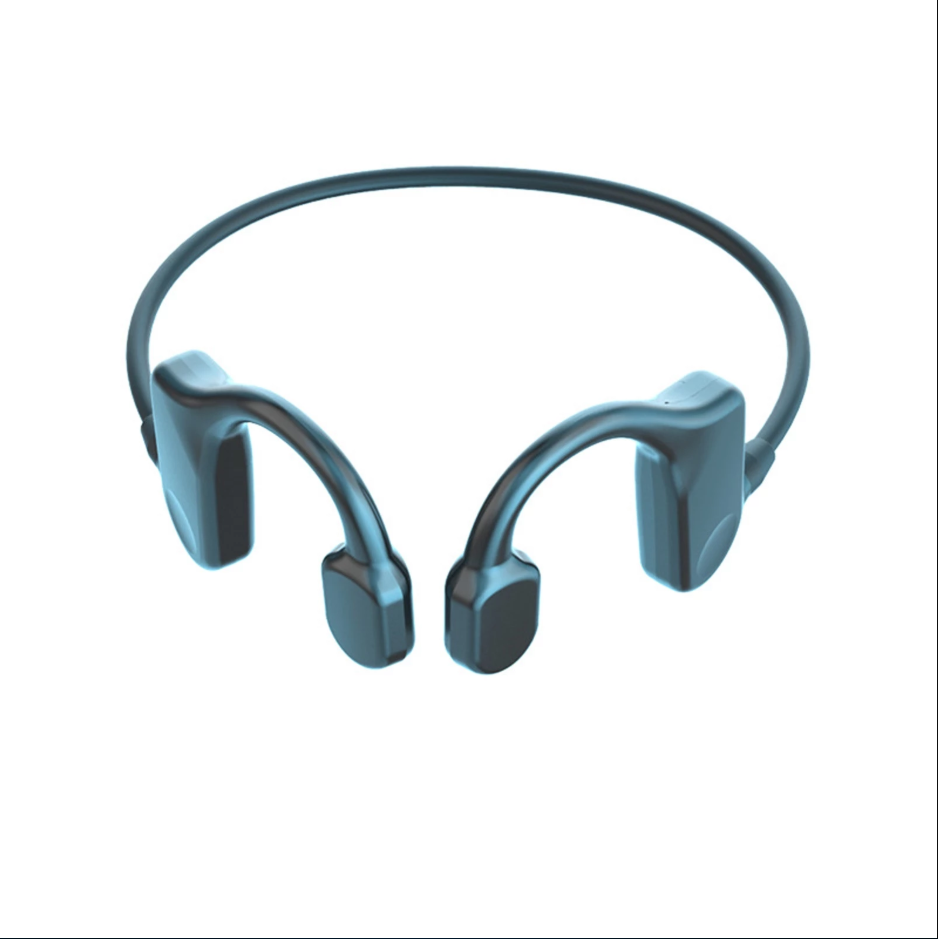 1 Pair SK3 Bone Conduction Stereo Music Game Wireless Bluetooth 5.1 Headset Black