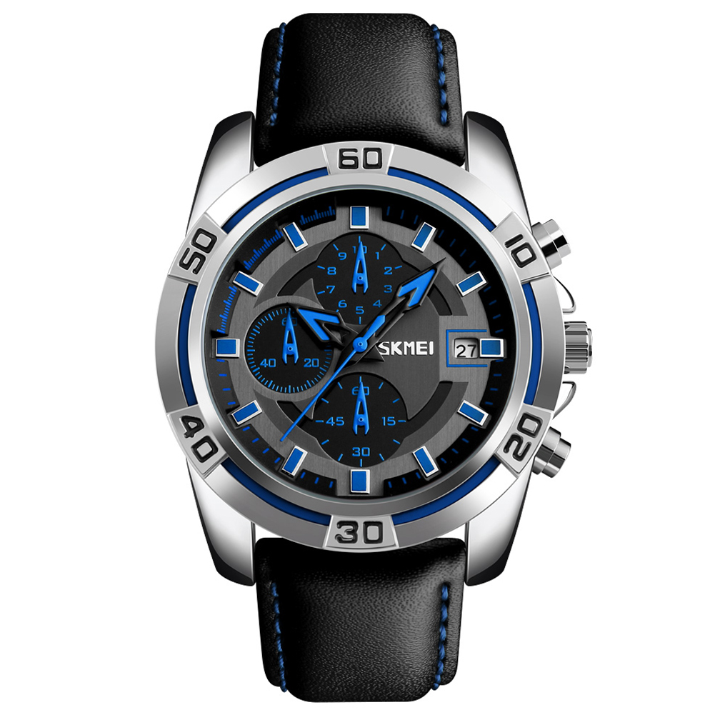 Men Fashion Luxury Quartz Wristwatch Blue