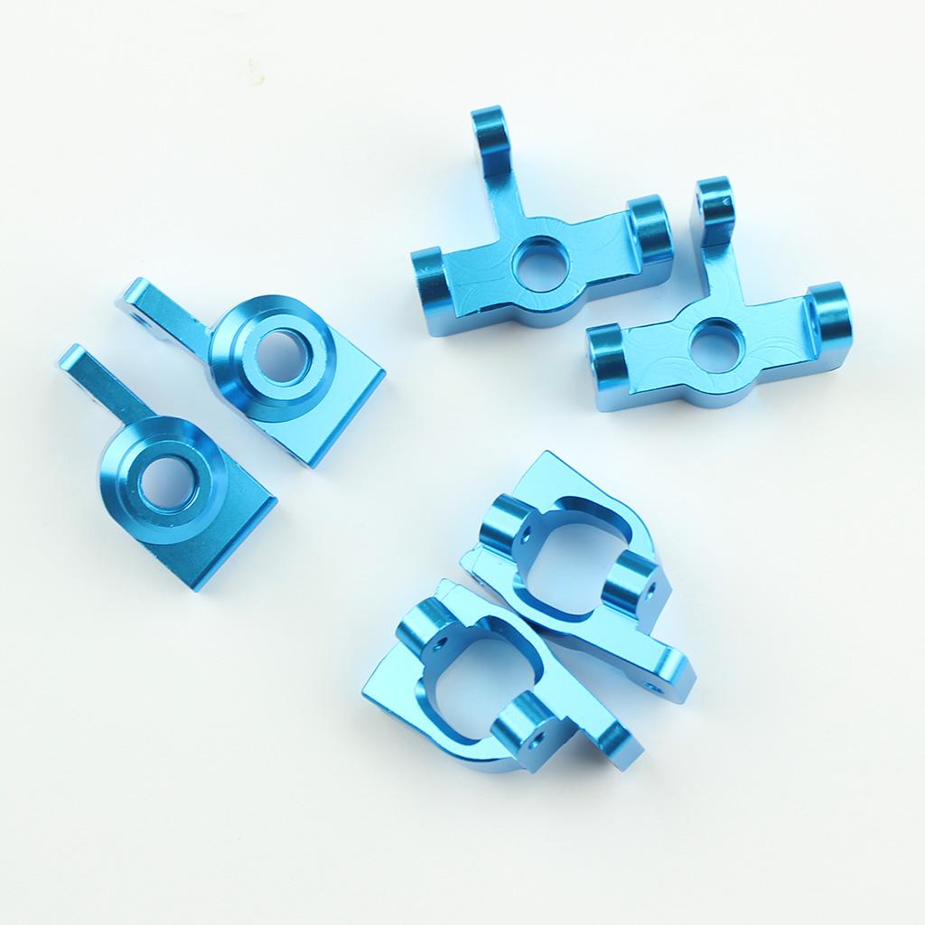 Wltoys 144001 Metal Upgrade Accessory Front and Back Wheel Base C-shape Base blue