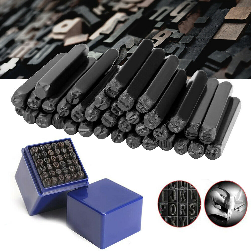 36Pcs Alphabet Stamping Pressing Kit for DIY Belt Leathercraft Tool 5mm(7/32) Letter & Number Punch Stamp Steel Alphabet Number 5mm (7/32)