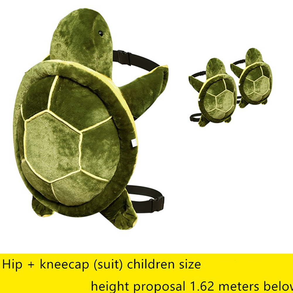 Adult Kids Outdoor Sports Skiing Skating Snowboarding Hip Protective Snowboard Knee Pad Hip Pad [Children] green turtle diaper + knee pads