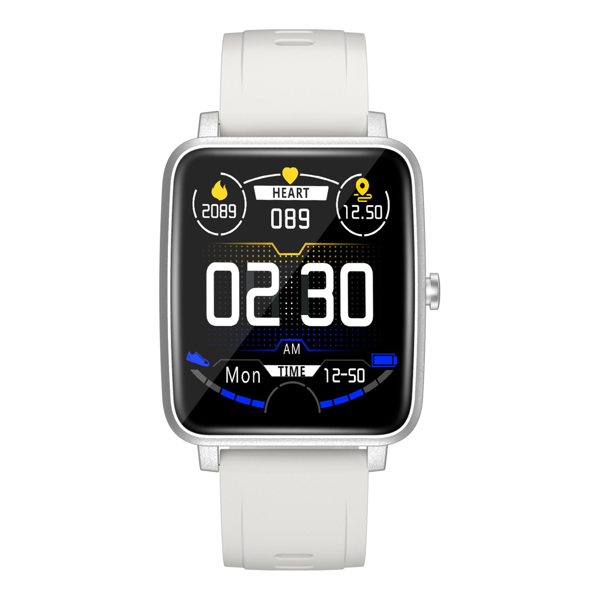 V10 Smart Watch Bluetooth Sports Health Wristband Heart Rate Fitness Pedometer Smartwatch White