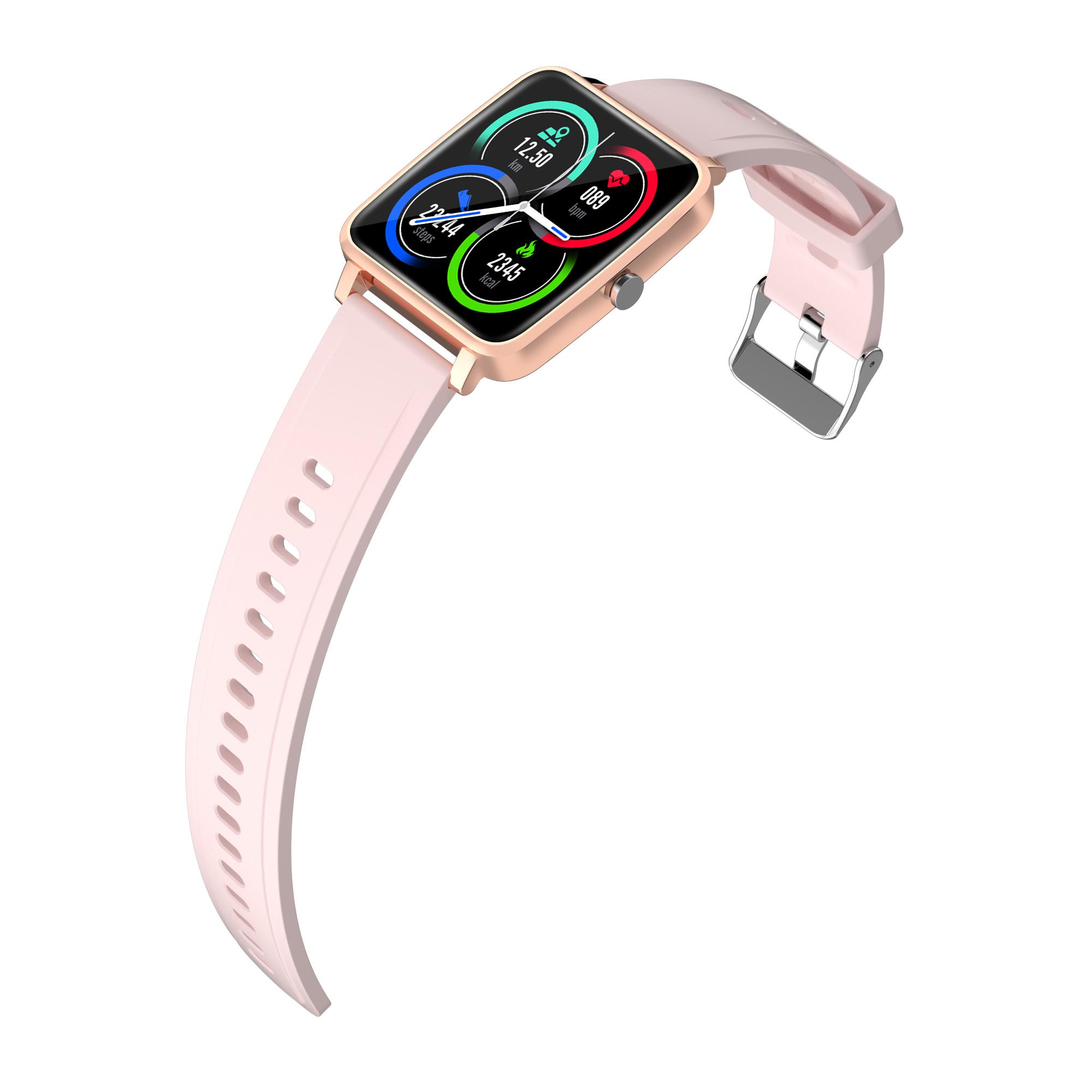 V10 Smart Watch Bluetooth Sports Health Wristband Heart Rate Fitness Pedometer Smartwatch Pink