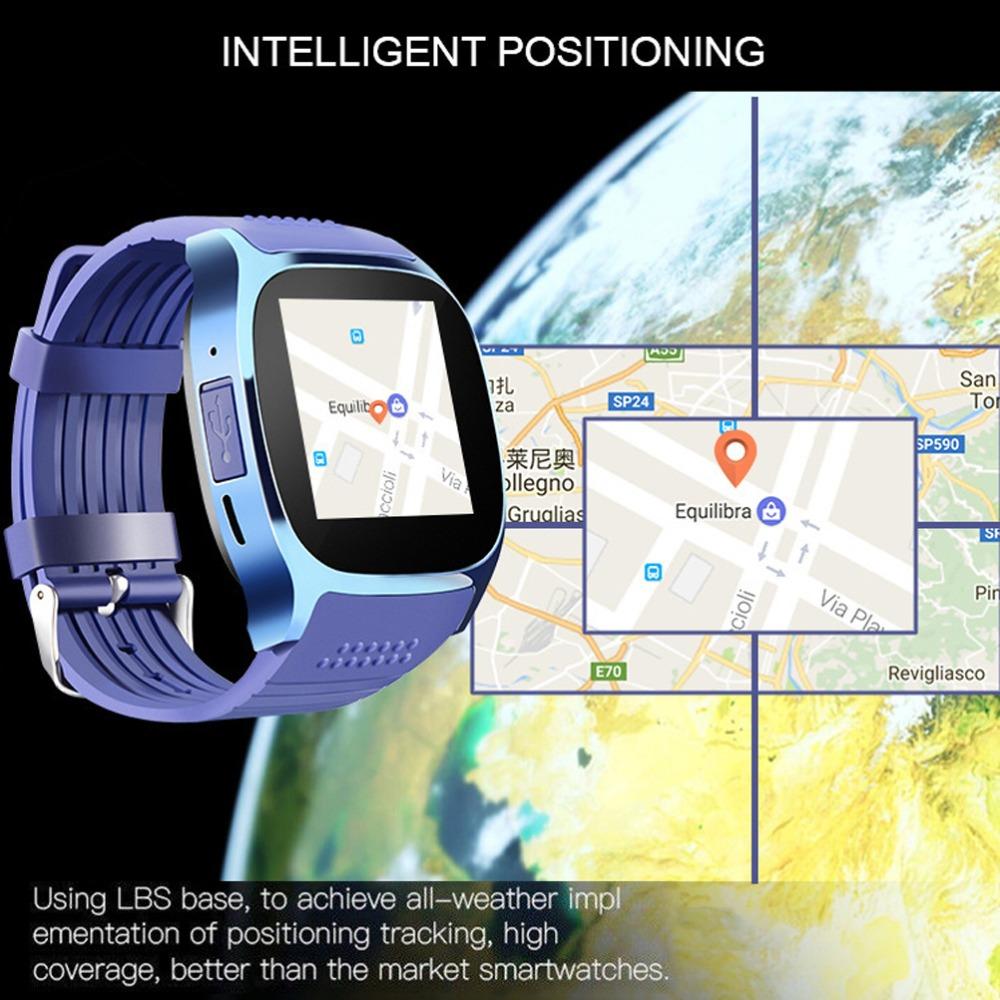 SIMU Sports Timing Watch Smart Bluetooth Electronic Watch SIM Card Watch blue