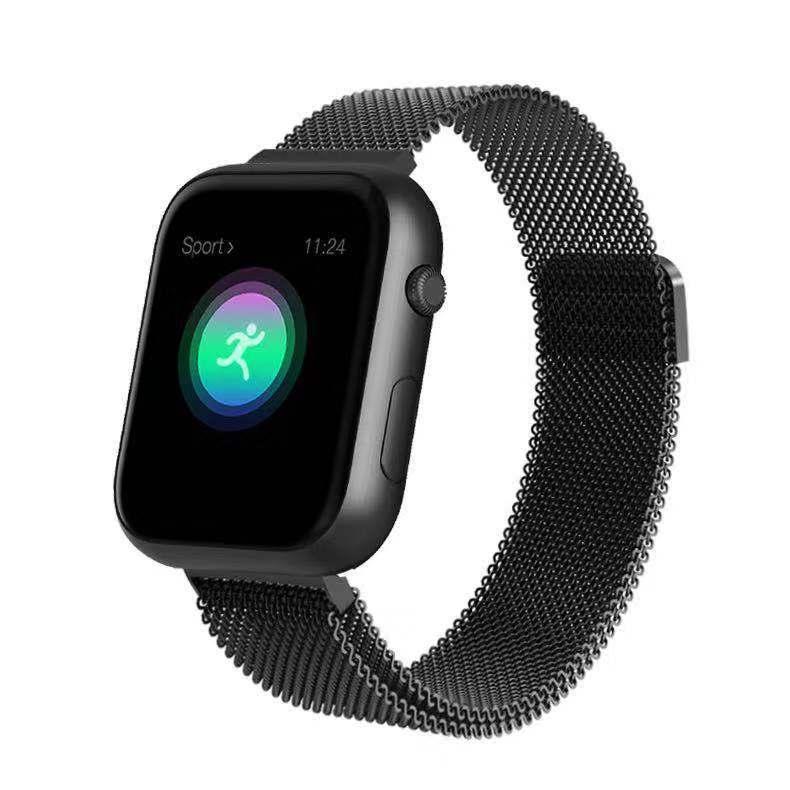 SX16 Smart Bracelet Watch 1.3inch TFT Screen Bluetooth4.0 Blood Pressure Heart Rate Monitor Fitness Tracker Wristband Black shell black steel belt