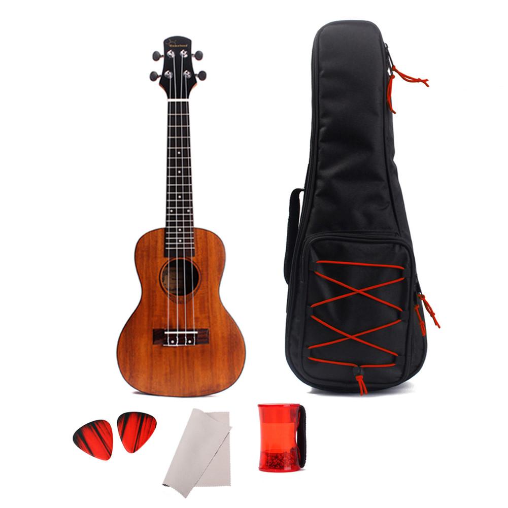 24inch Solid Acacia 4 String Ukulele Concert Musical Instrument Hawaiian Guitar