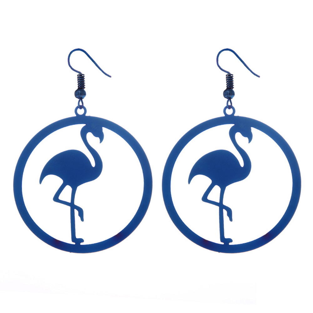 Fashion Stainless Steel Moltres Dangle Earrings Round Chic Charm Earrings Women Jewelry