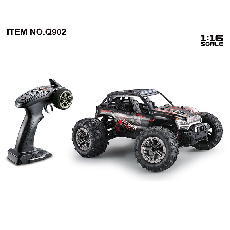Q902 1:16 2.4ghz 4wd  Remote  Control  Car 52km/h High Speed Brushless Rc Car Dessert Crawler Rc Vehicle Models Red