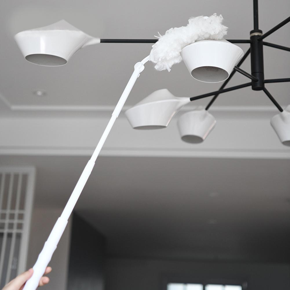 Household Cleaning Duster Bendable Brush Head Electrostatic Duster Long white