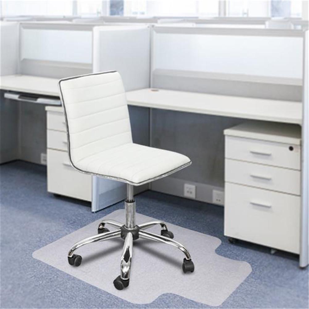 [US Direct] 2pcs Transparent Floor  Protection  Cushion Chair Cushion With Nails 90x120x0.2cm Convex Shape Floor Cover Transparent color