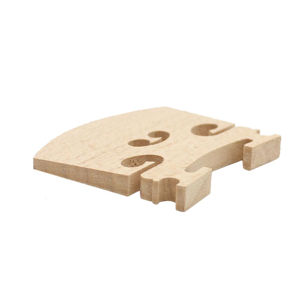 Violin Bridge Maple Wood Material for 4/4 3/4 1/2 1/4 1/8 Size Violin Accessory Wood color_1/8