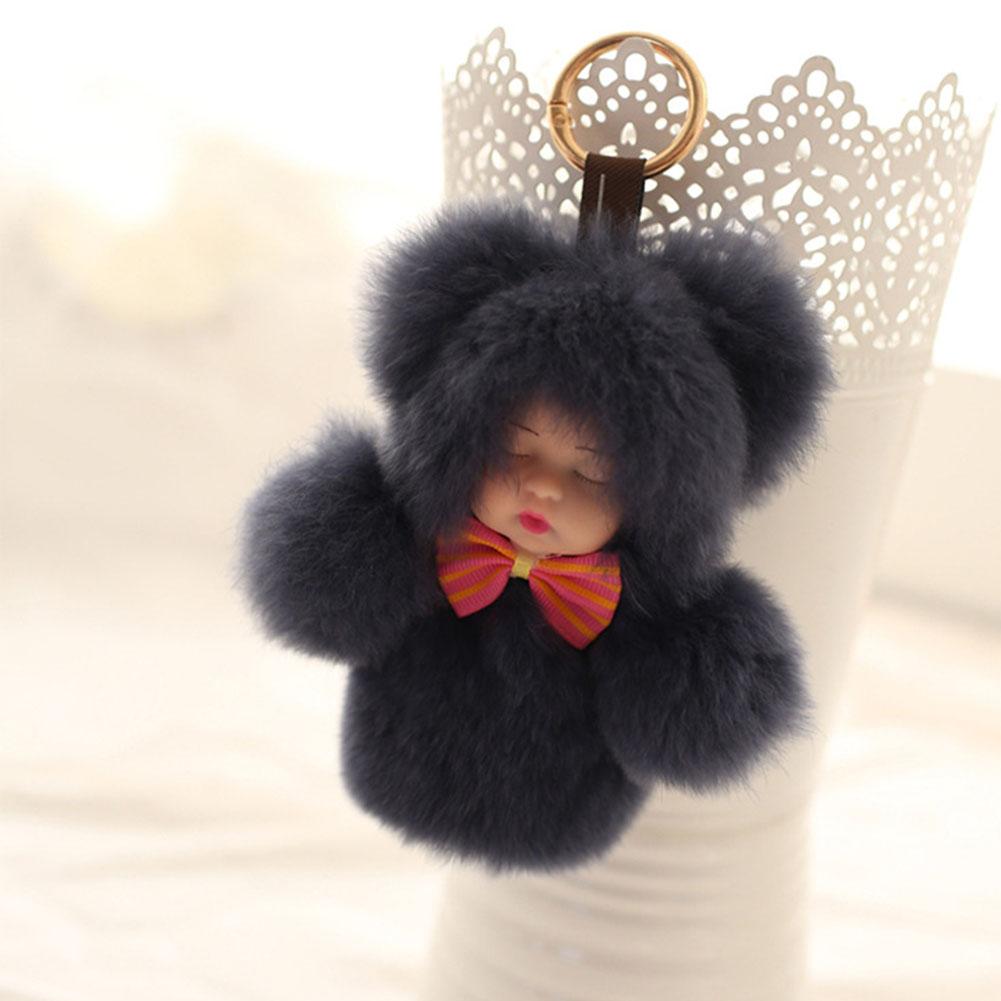 15cm Plush Sleeping Baby Doll Key Chain Lovely Key Pendant Decoration