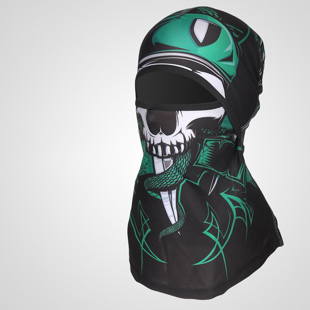 Sports Headwear Motorcycle Riding Headgear Magic Sport Scarf Full Face Mask Balaclava One size_Necromancer E