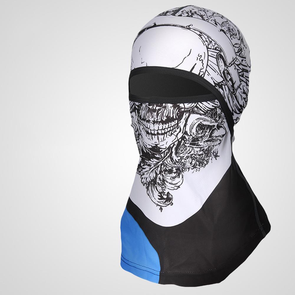 Sports Headwear Motorcycle Riding Headgear Magic Sport Scarf Full Face Mask Balaclava One size_Skull B