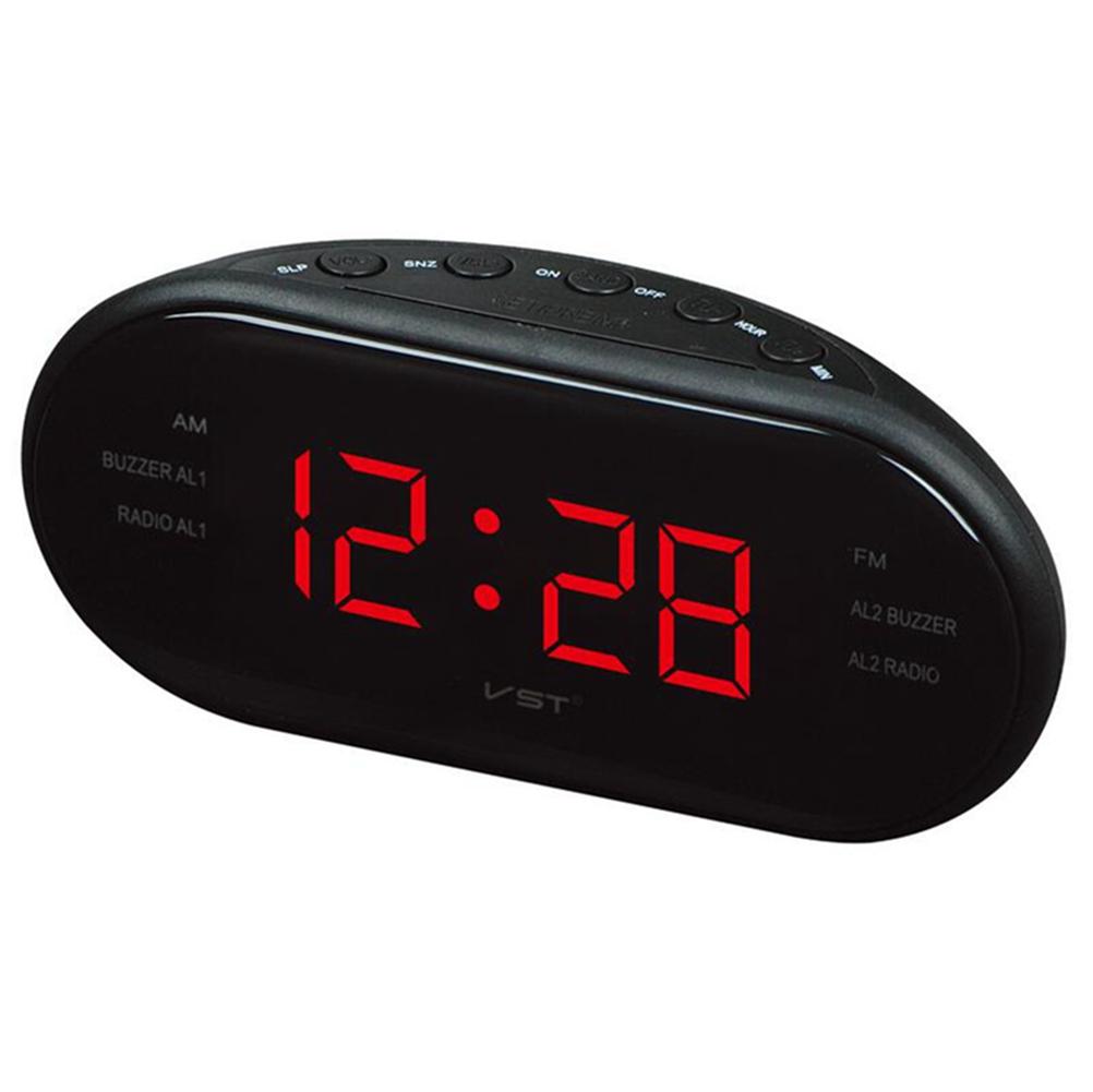 LED Alarm Clock Radio Digital AM/FM Radio Red With EU Plug red