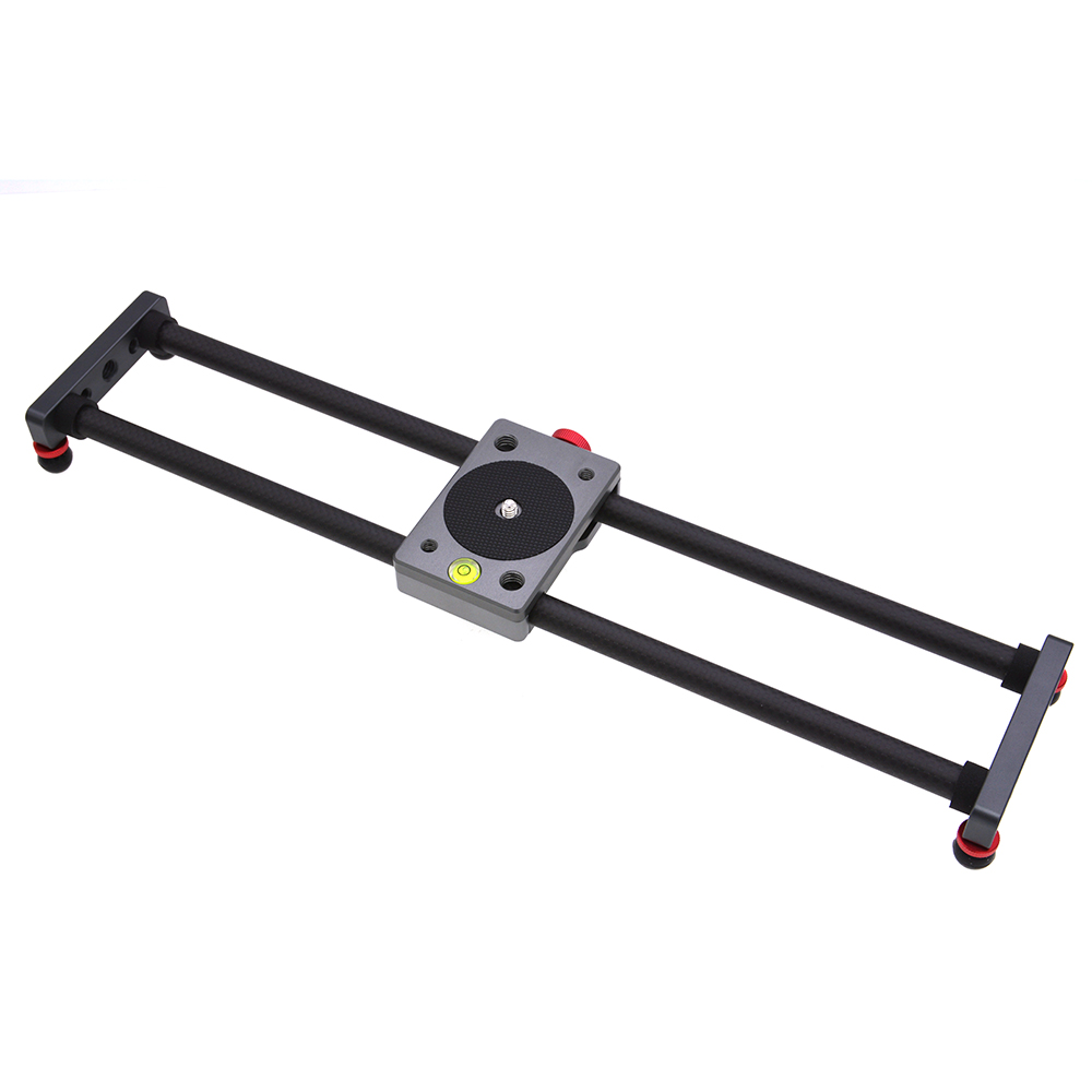 Carbon Fiber Mini Slider Rail Desktop Bearing-type Stabilizer Universal Tripod for Samrtphone Camera black