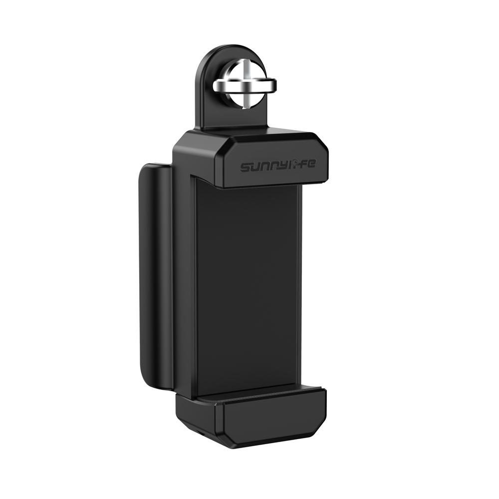 Plastic Smartphone Mount Clip Holder Bracket Tripod for FIMI PALM Gimbal Camera black