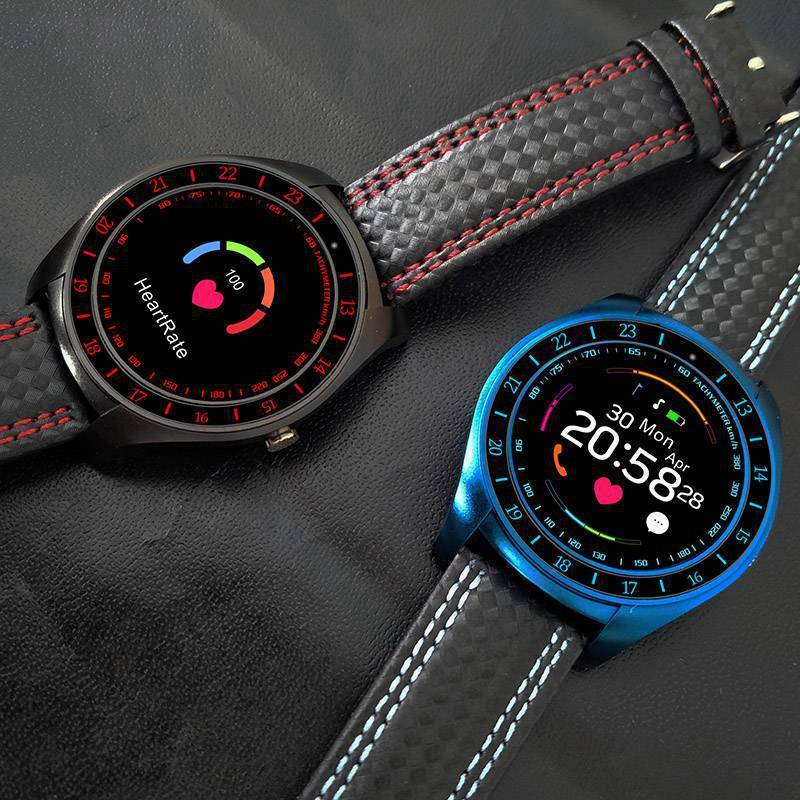 V10 Waterproof Sport Smart Watch - Blood Pressure Heart Rate Monitor for iOS Android, Blue