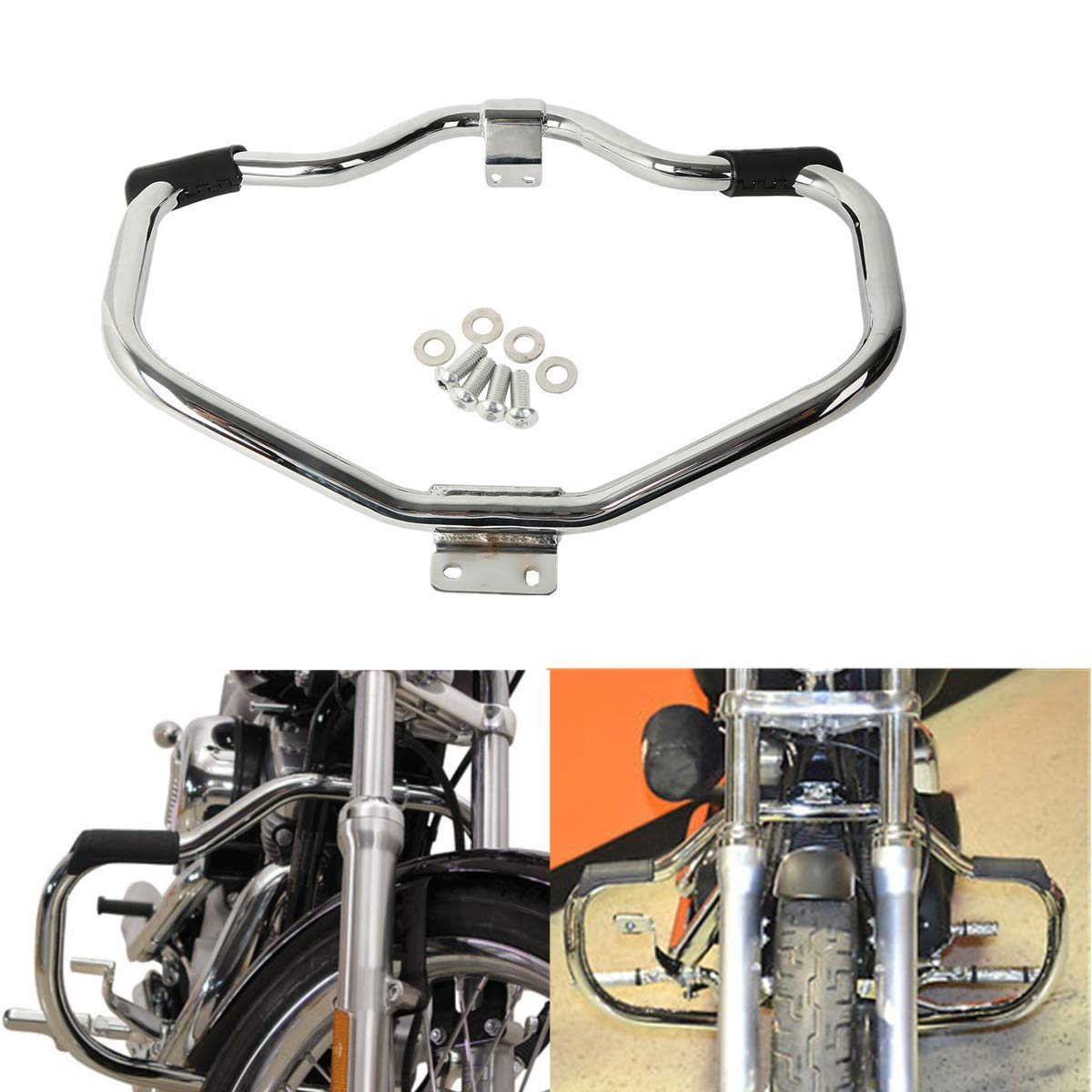 Motorcycle Engine Guard Highway Crash Bar For  Sportster XL 883 XL 1200 04-18 Plating