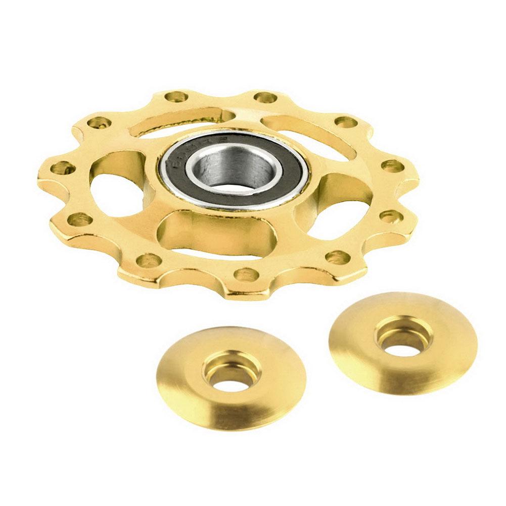 11T Aluminium Jockey Wheel Bicycle Rear Derailleur Pulley Guide Bearing Gold