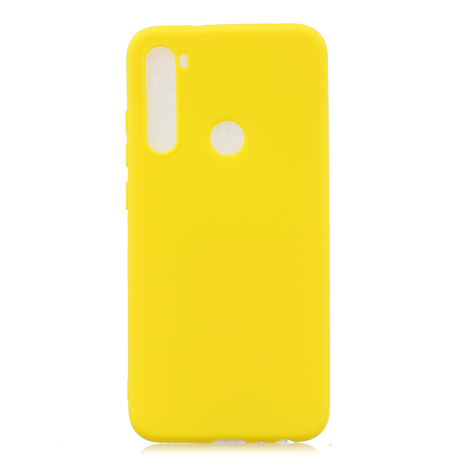 For Redmi NOTE 8 NOTE 8 Pro Soft Candy Color Frosted Surface Shockproof TPU Back Cover Mobile Phone Case yellow