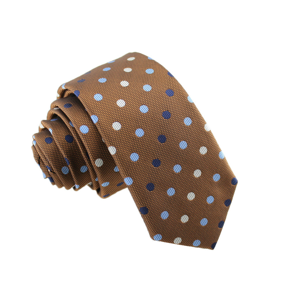 England Style Male Dot Casual Neck Tie Narrow Model 6CM Cotton Tie  23